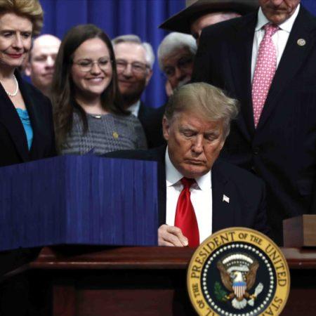 trump firma ley peleas de gallos 450x450 - Donald Trump firma medida que prohíbe las peleas de gallos en Puerto Rico