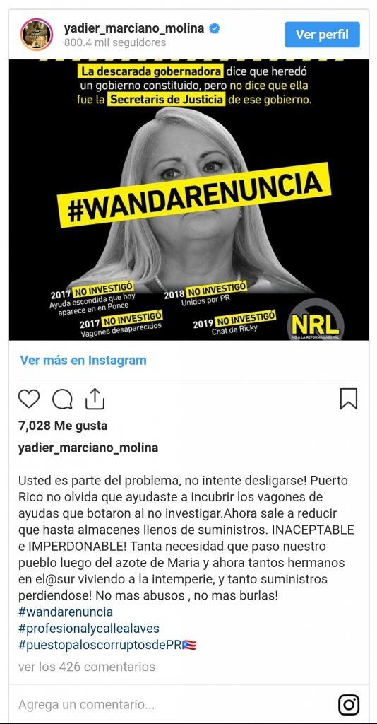 Screenshot 20200119 180714 Samsung Internet 534x1024 - Yadier Molina vuelve a la carga y le pide la renuncia a Wanda Vázquez