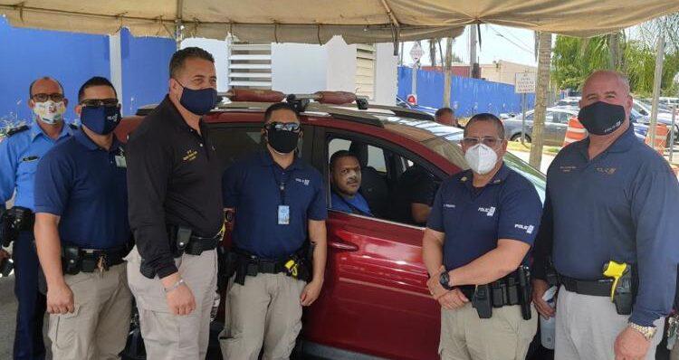 agente atropellado 750x398 - Dan de alta a agente atropellado por vehiculo Polaris en Arecibo