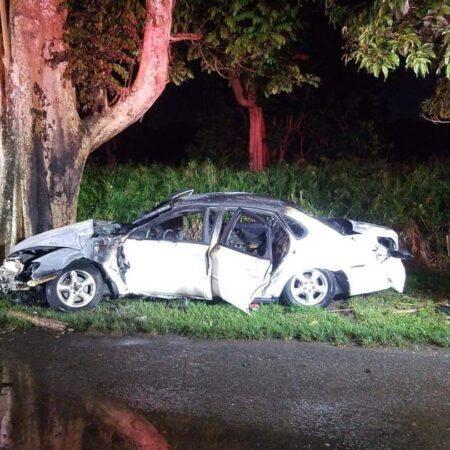 FB IMG 1631541349502 450x450 - Se reporta accidente fatal carretera 165 en Toa Alta. Persona murió calcinada por el choque.